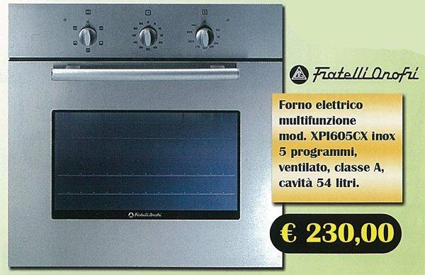 Elettrodomestici : Forni F.lli Onofri
