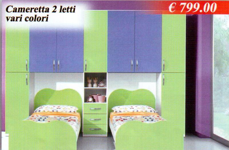 Camerette junior cameretta 2 letti for Camere da letto basso costo