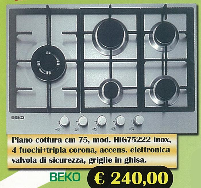 Elettrodomestici piani cottura beko for Piani domestici a basso costo